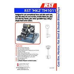 Rst Mk2 Mortice Manual Key Cutting Machine Keyprint