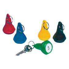 Picture of Pear Shape Key Tags - Blue