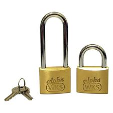 Picture of WKS Brass Padlocks - Keyed Alike - Boxed