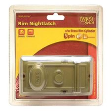 Picture of WKS Rim Nightlatch with 5 Pin Brass Rim Cylinder - Blister