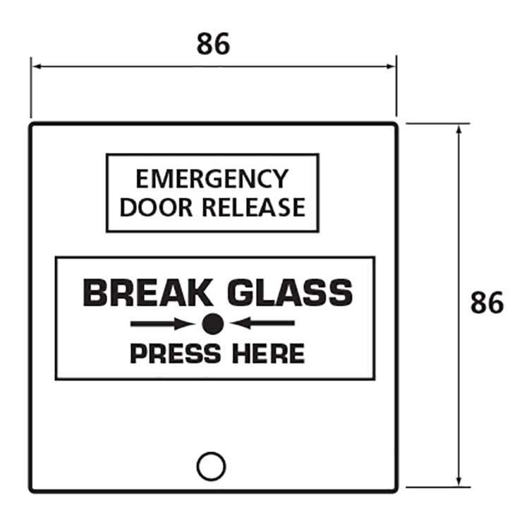 Emergency Break Glass Unit Green Keyprint Security Ltd