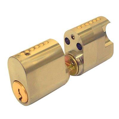 Picture of ASSA 6 Pin External/Internal Scandinavian Double Cylinder (PB)