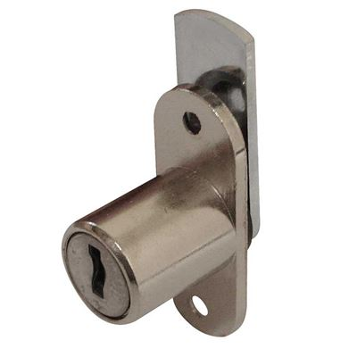 Picture of 19mm Tambour Lock - Cylindrical Head (Double Flange Fix)