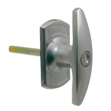 Picture of Short Spigot Garage Door 'T' Handle (Diamond Spindle)