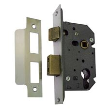 Picture of 63mm Euro Profile Mortice Sashlock with 44mm Backset