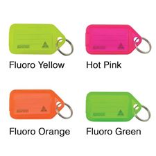 Picture of Kevron Clicktags Key Tags Fluorescent Single Colours - Bags of 50