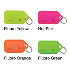 Picture of Kevron Giant Clicktags Key Tags Single Fluorescent Colours - Bag of 25