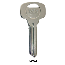 Picture of Genuine Yale YAX6 Patented 6-Pin Key Blank