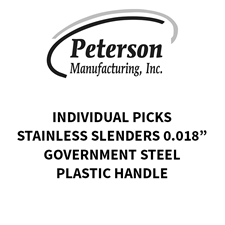 Picture of Peterson Euro Government Steel Stainless Slenders 0.018""