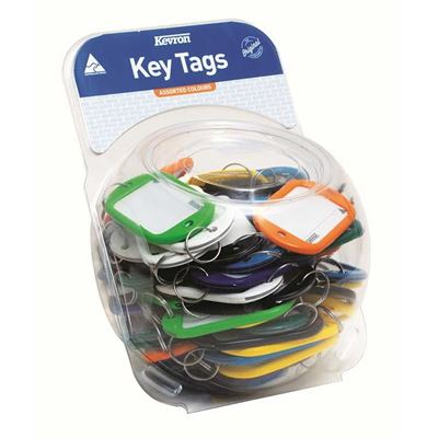 Picture of Kevron Hotel Jumbo Key Tags Assorted Colours - Counter Display