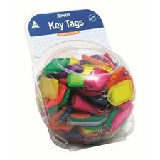 Picture of Kevron Giant Clicktags Key Tags Assorted Colours - Counter Display