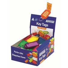 Picture of Kevron Giant Clicktags Key Tags Assorted Colours - Counter Display Box