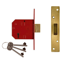 Picture of Union 2134E - British Standard 5 Lever Deadlocks - Blister