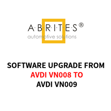 Picture of ABRITES AVDI Software Update from VN008 to VN009