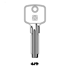 Picture of Silca CS62 Cisa Dimple Cylinder Key Blank