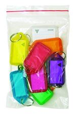 Picture of Kevron Clicktags Key Tags Assorted Colours - Bag of 10