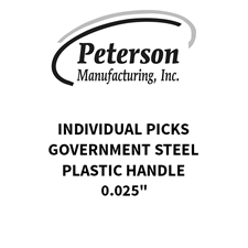 Picture of Peterson Government Steel Individual Picks 0.025""