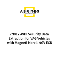 Picture of VN012 AVDI Security Data Extraction for VAG Vehicles with Magneti Marelli 9GV ECU