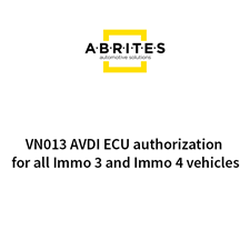 Picture of VN013 AVDI ECU authorization for all Immo 3 and Immo 4 vehicles