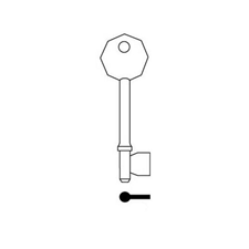 Picture of RST 6935 Mortice Key Blank for Legge, Asec