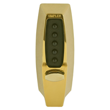 Picture of Kaba Simplex 7104 Digital Lock - Light Duty Mortice Deadlocking Latch - Bright Brass