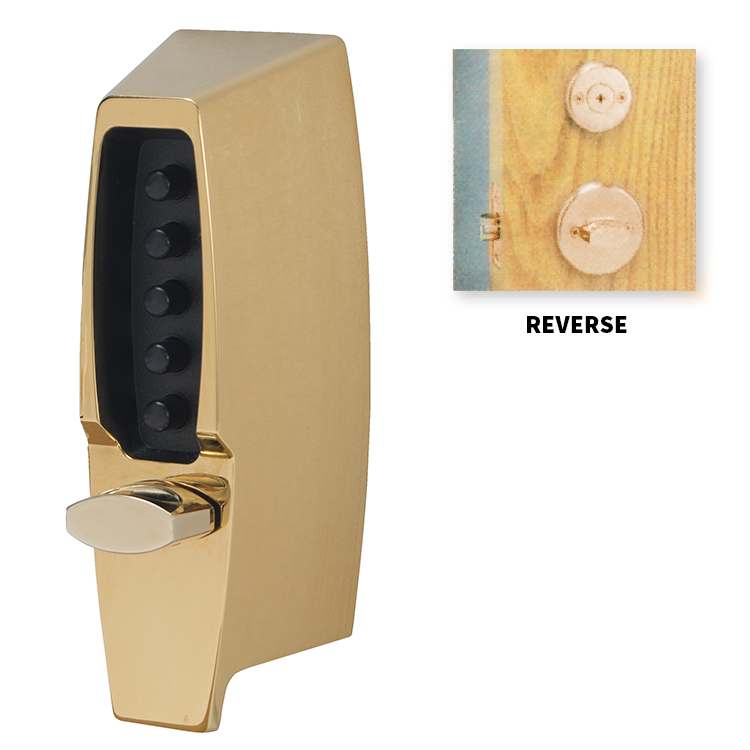 Kaba Simplex 7104 Digital Lock - Bright Brass - Keyprint Security Ltd