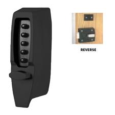 Picture of Kaba Simplex 7106 Digital Lock - Light Duty Rim Deadlocking Latch - Black