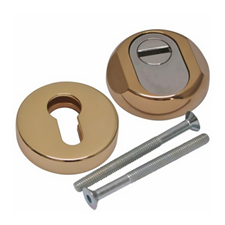 Picture of DISEC Euro Profile Round Guard Escutcheon - Brass