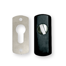 Picture of DISEC Easy Fit Euro Profile Steel Guard Escutcheon - Black
