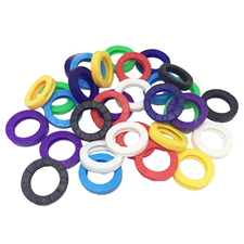 Picture of Plastic I.D. Key Rings - Assorted Colours
