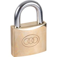 Picture of Tri-Circle Brass Padlocks - Keyed Differ - Boxed