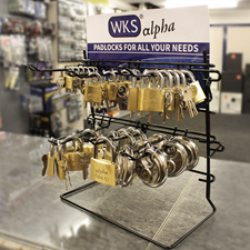 Picture of WKS Alpha Brass Padlock Counter Display Stand