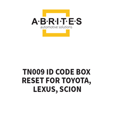 Picture of TN009 ID Code Box Reset for Toyota, Lexus, Scion