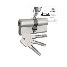 Picture of Cisa Astral Euro Double Cylinders - 3 Keyed
