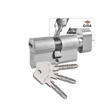 Picture of Cisa Astral Euro Single & Turn Cylinders - 3 Keyed