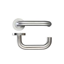 Picture of 19mm Return-to-door handle - screw on round rose (sprung)