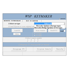 Picture of WSP (Sprinter W901-W902-W903-W904-W905) software update for MB Remote Keymaker