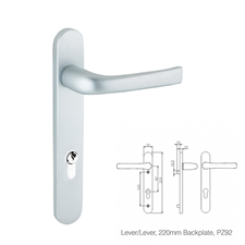 Picture of Replacement Lever/Lever Door Handles, 220mm Backplate - 92mm PZ